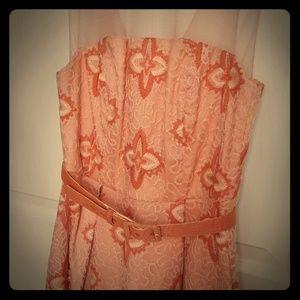 Darling Eva Franco/Anthropolohie peach dress